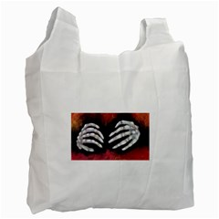 Halloween Bones Recycle Bag (two Side)  by timelessartoncanvas