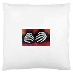 Halloween Bones Large Flano Cushion Cases (two Sides)