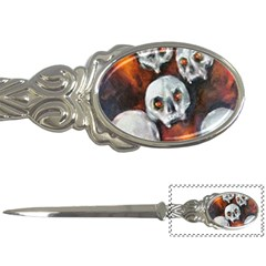 Halloween Skulls No  4 Letter Openers by timelessartoncanvas