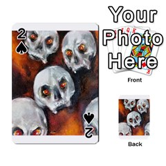 Halloween Skulls No  4 Playing Cards 54 Designs  by timelessartoncanvas