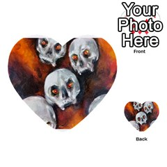 Halloween Skulls No  4 Multi Purpose Cards (heart)  by timelessartoncanvas