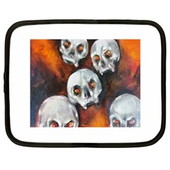 Halloween Skulls No  4 Netbook Case (large)	 by timelessartoncanvas