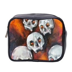 Halloween Skulls No  4 Mini Toiletries Bag 2 Side by timelessartoncanvas
