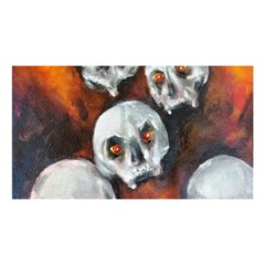 Halloween Skulls No  4 You Are Invited 3d Greeting Card (8x4)  by timelessartoncanvas