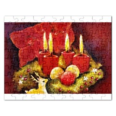 Holiday Candles  Rectangular Jigsaw Puzzl by timelessartoncanvas