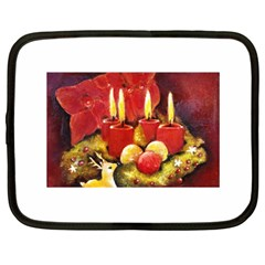 Holiday Candles  Netbook Case (large)	 by timelessartoncanvas