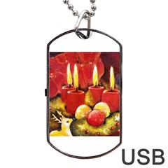 Holiday Candles  Dog Tag Usb Flash (two Sides)