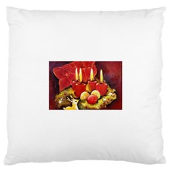 Holiday Candles  Large Cushion Cases (two Sides)