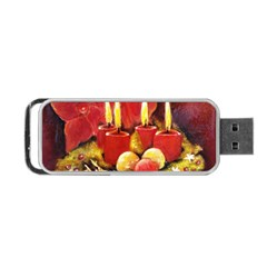Holiday Candles  Portable Usb Flash (two Sides) by timelessartoncanvas