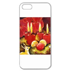 Holiday Candles  Apple Seamless Iphone 5 Case (clear) by timelessartoncanvas