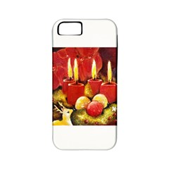 Holiday Candles  Apple Iphone 5 Classic Hardshell Case (pc+silicone) by timelessartoncanvas