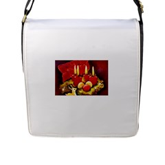 Holiday Candles  Flap Messenger Bag (l)  by timelessartoncanvas