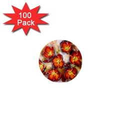 Fall Flowers 1  Mini Buttons (100 Pack)