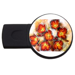 Fall Flowers Usb Flash Drive Round (2 Gb)  by timelessartoncanvas