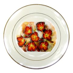 Fall Flowers Porcelain Plates