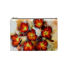 Fall Flowers Cosmetic Bag (medium)  by timelessartoncanvas