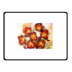 Fall Flowers Double Sided Fleece Blanket (small)  by timelessartoncanvas