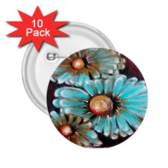 Fall Flowers No  2 2 25  Buttons (10 Pack)