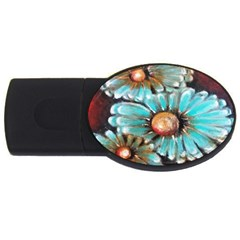 Fall Flowers No  2 Usb Flash Drive Oval (2 Gb)  by timelessartoncanvas