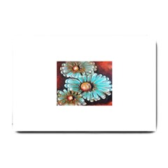 Fall Flowers No  2 Small Doormat  by timelessartoncanvas