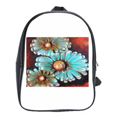 Fall Flowers No  2 School Bags(large)