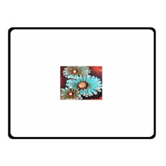 Fall Flowers No  2 Double Sided Fleece Blanket (small)