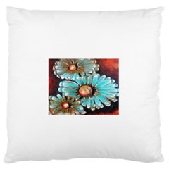 Fall Flowers No  2 Large Flano Cushion Cases (one Side)  by timelessartoncanvas