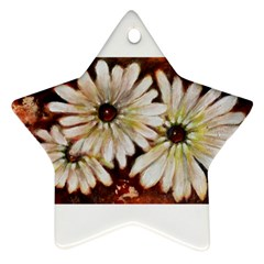 Fall Flowers No  3 Star Ornament (two Sides)