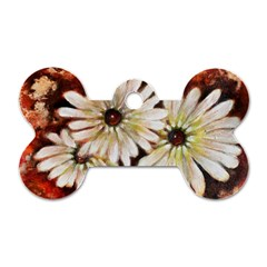 Fall Flowers No  3 Dog Tag Bone (one Side)