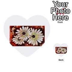 Fall Flowers No  3 Multi Purpose Cards (heart)