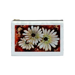 Fall Flowers No  3 Cosmetic Bag (medium)  by timelessartoncanvas