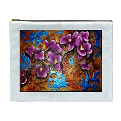 Fall Flowers No  5 Cosmetic Bag (xl) by timelessartoncanvas