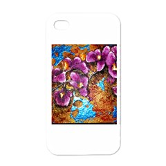 Fall Flowers No  5 Apple Iphone 4 Case (white) by timelessartoncanvas