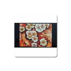 Fall Flowers No  6 Square Magnet by timelessartoncanvas