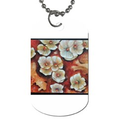 Fall Flowers No  6 Dog Tag (one Side) by timelessartoncanvas