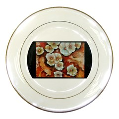 Fall Flowers No  6 Porcelain Plates
