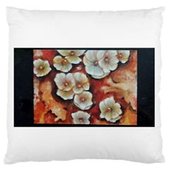 Fall Flowers No  6 Standard Flano Cushion Cases (one Side)