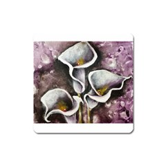 Gala Lilies Square Magnet by timelessartoncanvas