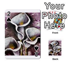 Gala Lilies Playing Cards 54 Designs  by timelessartoncanvas