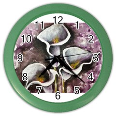 Gala Lilies Color Wall Clocks