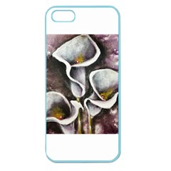 Gala Lilies Apple Seamless Iphone 5 Case (color) by timelessartoncanvas