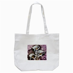 Gala Lilies Tote Bag (white)  by timelessartoncanvas