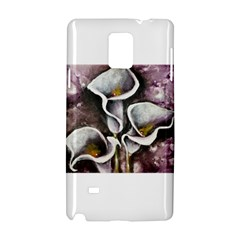 Gala Lilies Samsung Galaxy Note 4 Hardshell Case by timelessartoncanvas
