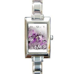 Shades Of Purple Rectangle Italian Charm Watches by timelessartoncanvas
