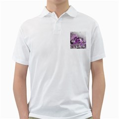 Shades Of Purple Golf Shirts by timelessartoncanvas
