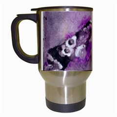 Shades Of Purple Travel Mugs (white) by timelessartoncanvas