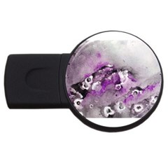 Shades Of Purple Usb Flash Drive Round (4 Gb)  by timelessartoncanvas
