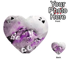 Shades Of Purple Playing Cards 54 (heart)  by timelessartoncanvas