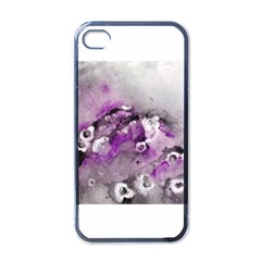 Shades Of Purple Apple Iphone 4 Case (black) by timelessartoncanvas