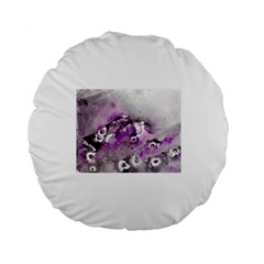 Shades Of Purple Standard 15  Premium Round Cushions by timelessartoncanvas